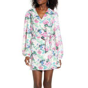[WAYF] Loretta Floral SequinWrap Dress